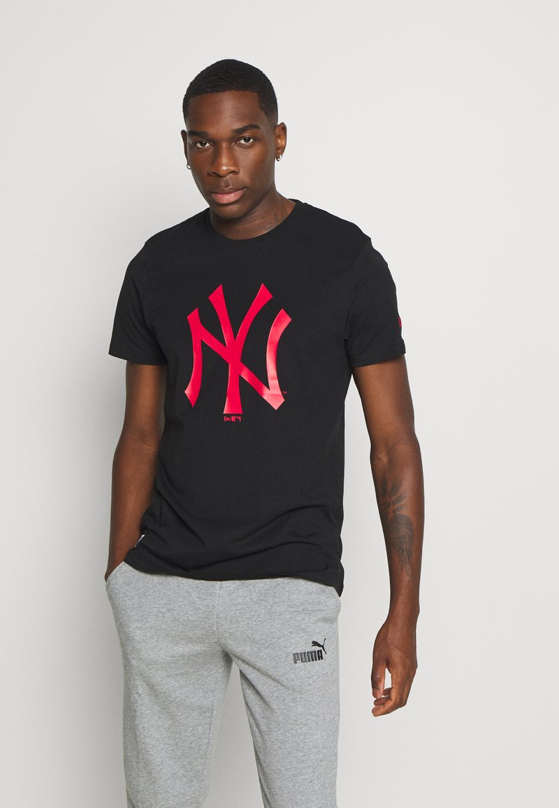 New Era - MLB NEW YORK YANKEES SEASONAL TEAM LOGO TEE - Klubové oblečení - black
