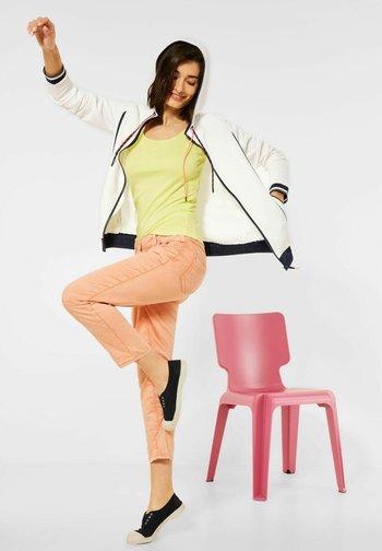 Zip-up sweatshirt - weiß