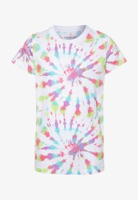 J.CREW - TIE DYE GRAPHIC TEE  - Print T-shirt - faded neon - 0