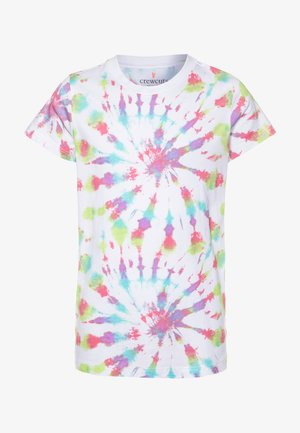 TIE DYE GRAPHIC TEE  - Print T-shirt - faded neon