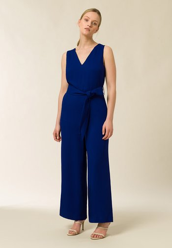 BACK SLIT ANKLELENGHT - Jumpsuit - illuminated blue
