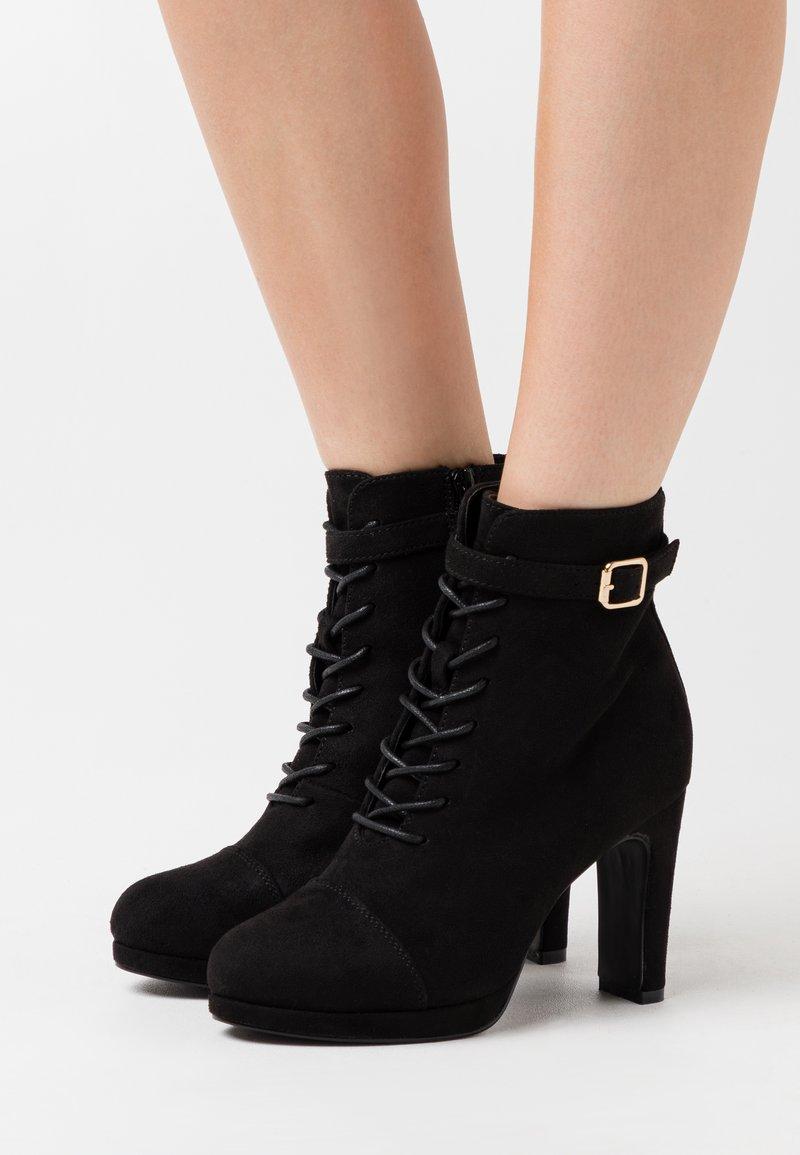 Anna Field Wide Fit - Šněrovací kotníkové boty - black