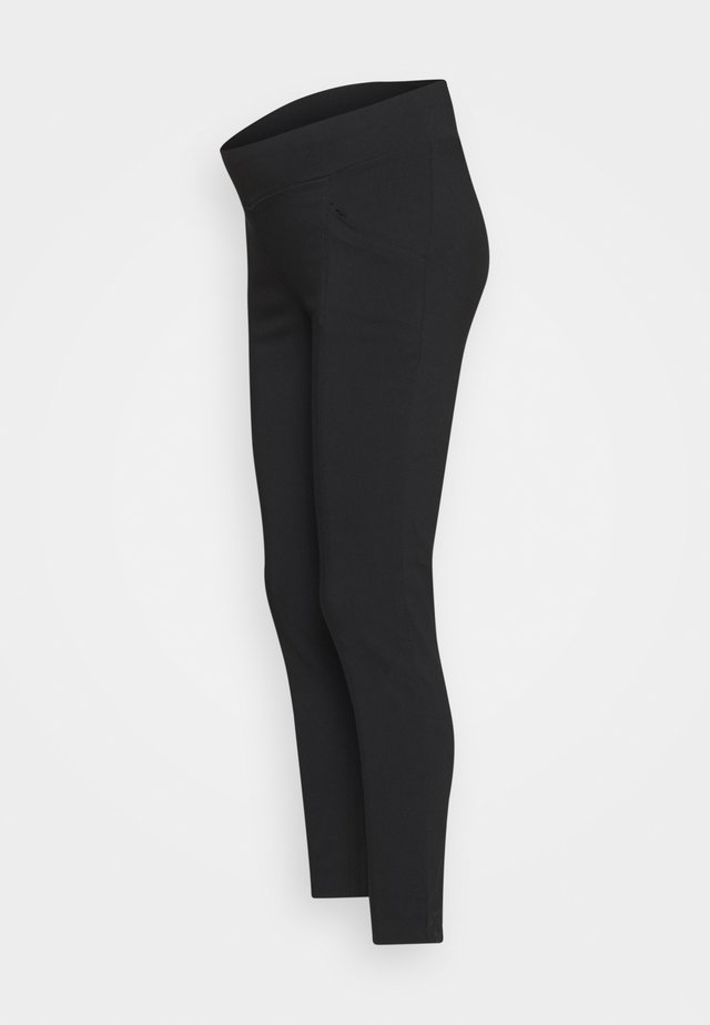 SLIM LEG POCKET PANT - Bukser - black
