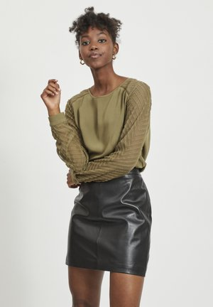 OBJZOE - Blouse - burnt olive