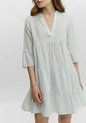 VMHELI 3/4  WVN GA COLOR - Day dress - snow white