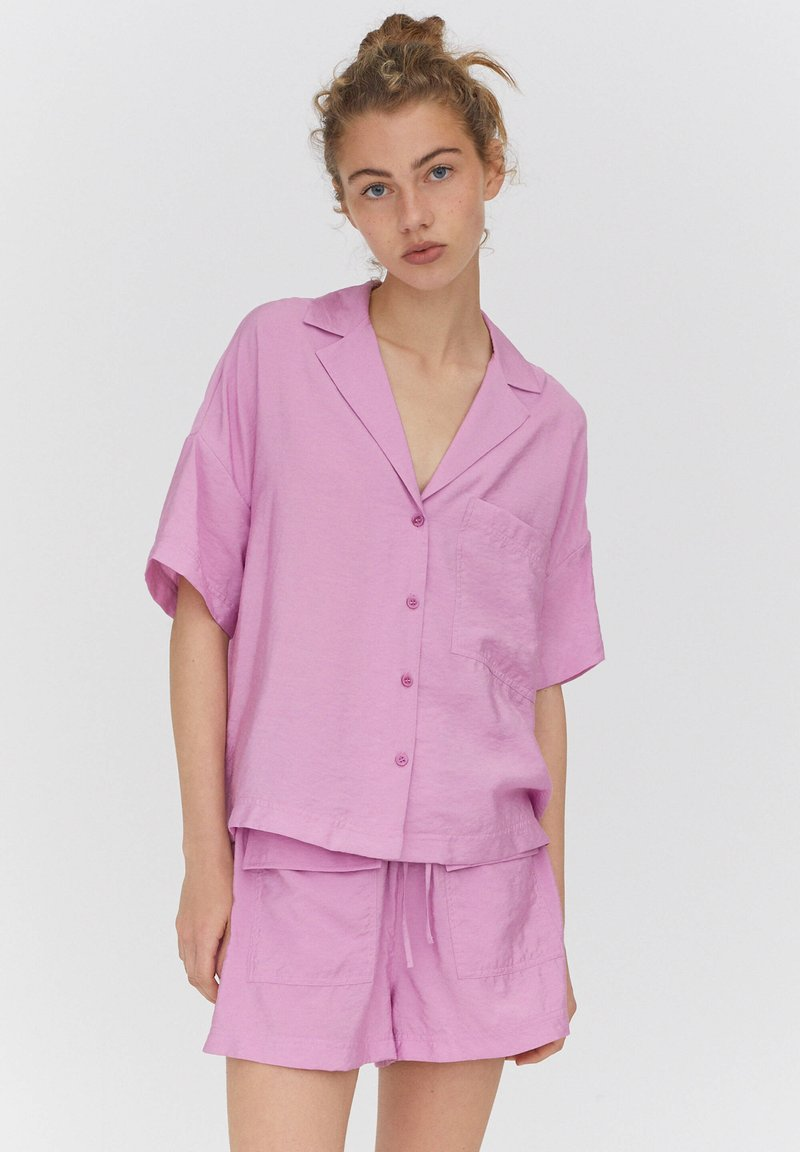 PULL&BEAR - Button-down blouse - pink