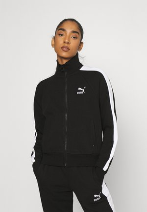 ICONIC T7 TRACK - Zip-up hoodie - black