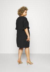 Missguided Plus - FRILL SMOCK DRESS - Day dress - black - 2