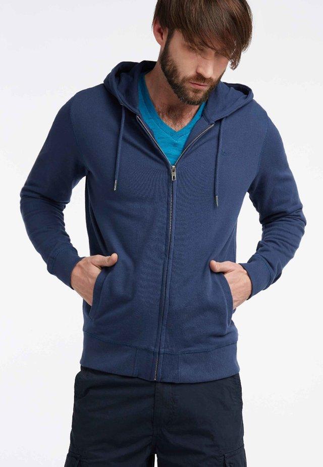 veste en sweat zippée - petrol blue