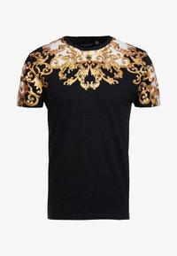 Brave Soul - SCROLL - T-shirt con stampa - black - 3