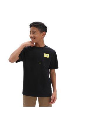 BY VANS X SPONGEBOB SPOTLIGHT PCKT BOYS - T-shirt med print - black