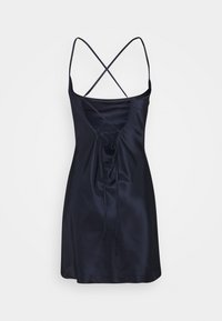 Missguided Petite - COWL CAMI DRESS TEXTURED  - Cocktailkjole - navy - 1