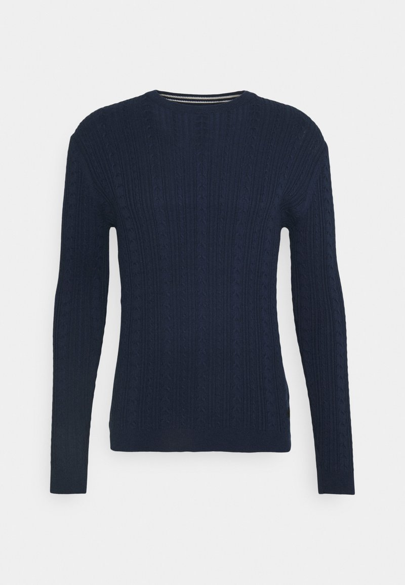 Only & Sons - ONSRIGE THIN CABLE CREW NECK - Stickad tröja - dress blues