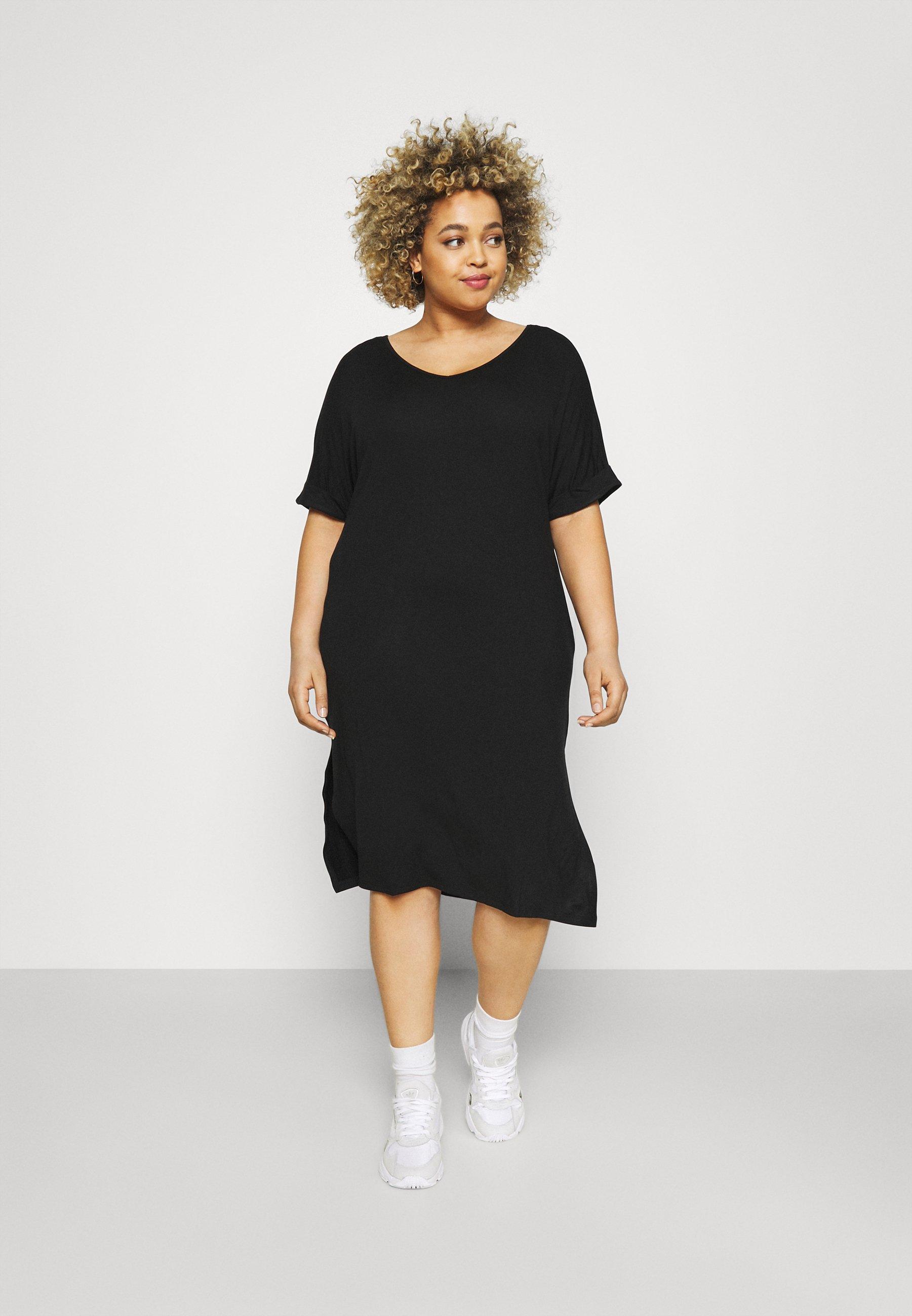 Women PCNEORA FOLD UP DRESS - Jersey dress