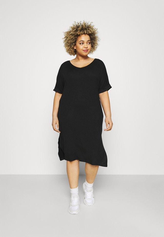 PCNEORA FOLD UP DRESS - Sukienka z dżerseju - black