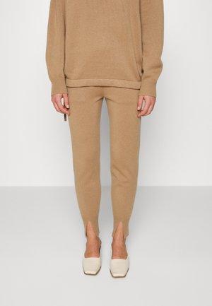 SLIT JOGGER - Trousers - beige