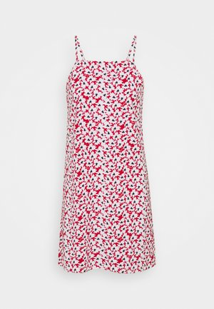 MINI SLIP DRESS - Jersey dress - red