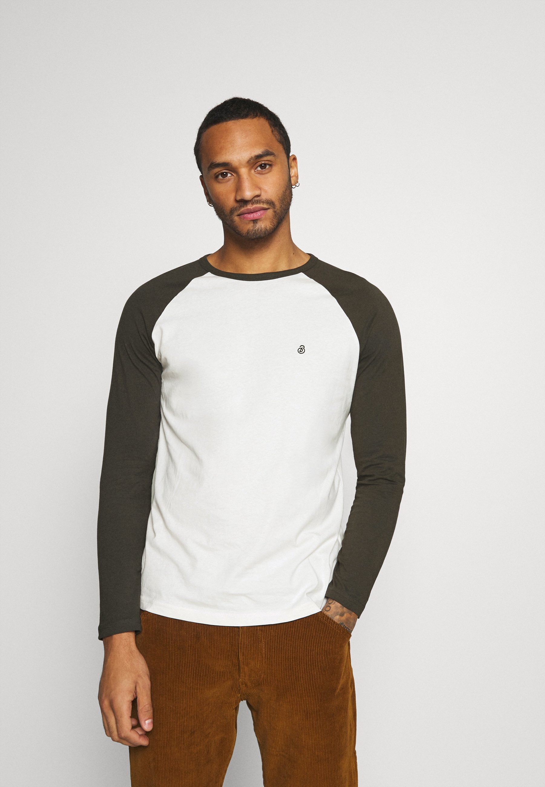 Burton Menswear London Long Sleeve Raglan 2 Pack - Topper Langermet Grey Marl/grå-melert