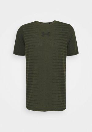 SEAMLESS WORDMARK - Print T-shirt - khaki