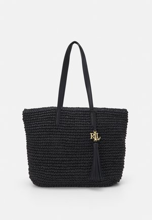 CROCHET TOTE - Handbag - black