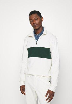 LOOPBACK TERRY LONG SLEEVE - Sweatshirt - chic cream/college green