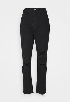 DISTRESSED - Slim fit jeans - black