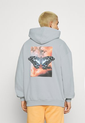 BUTTERFLY CLOUDS HOODIE UNISEX - Collegepaita - quarry