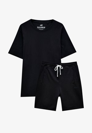 2 PIECE SET - Tracksuit bottoms - black