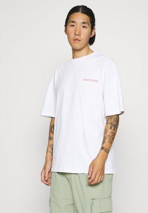 VALAIS UNISEX - T-shirt print - white