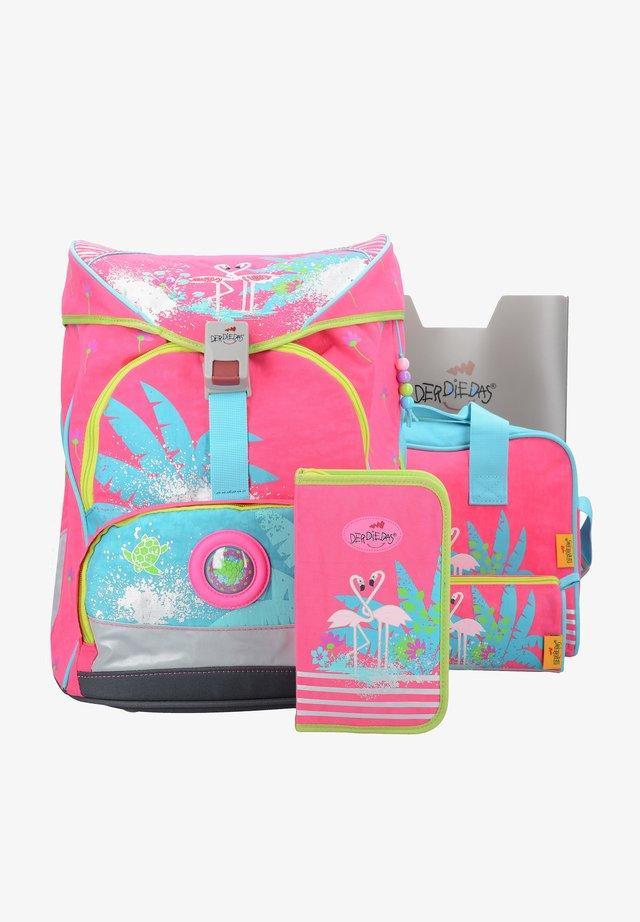 School set - flamingo
