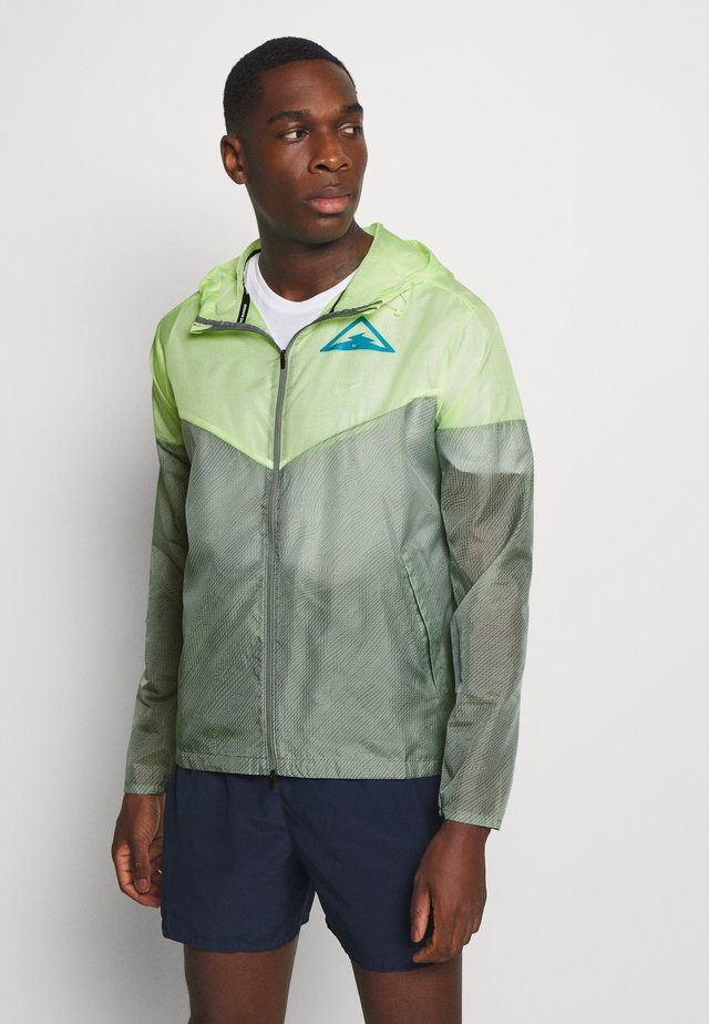 TRAIL - Veste coupe-vent - particle grey/barely volt/laser blue