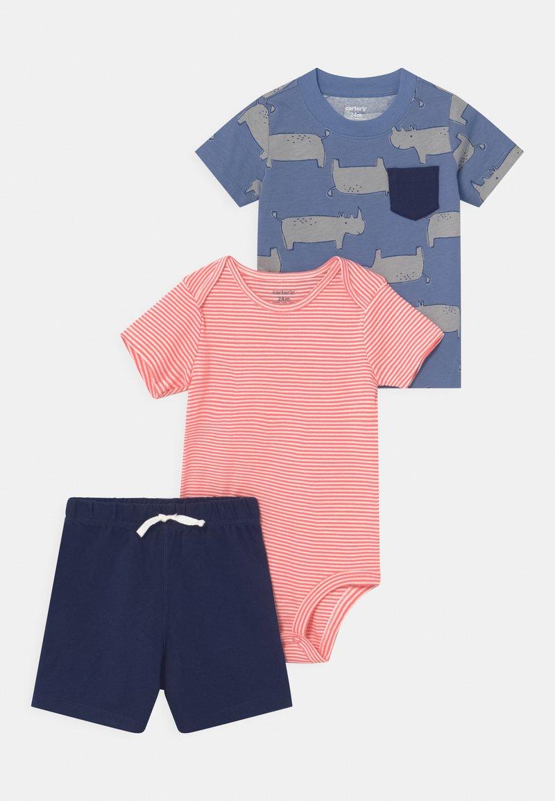 Carter's - RHINO SET - Print T-shirt - blue/red