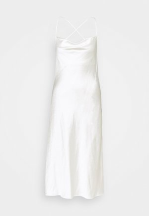 CROSS BACK COWL BIAS SLIP - Cocktail dress / Party dress - white