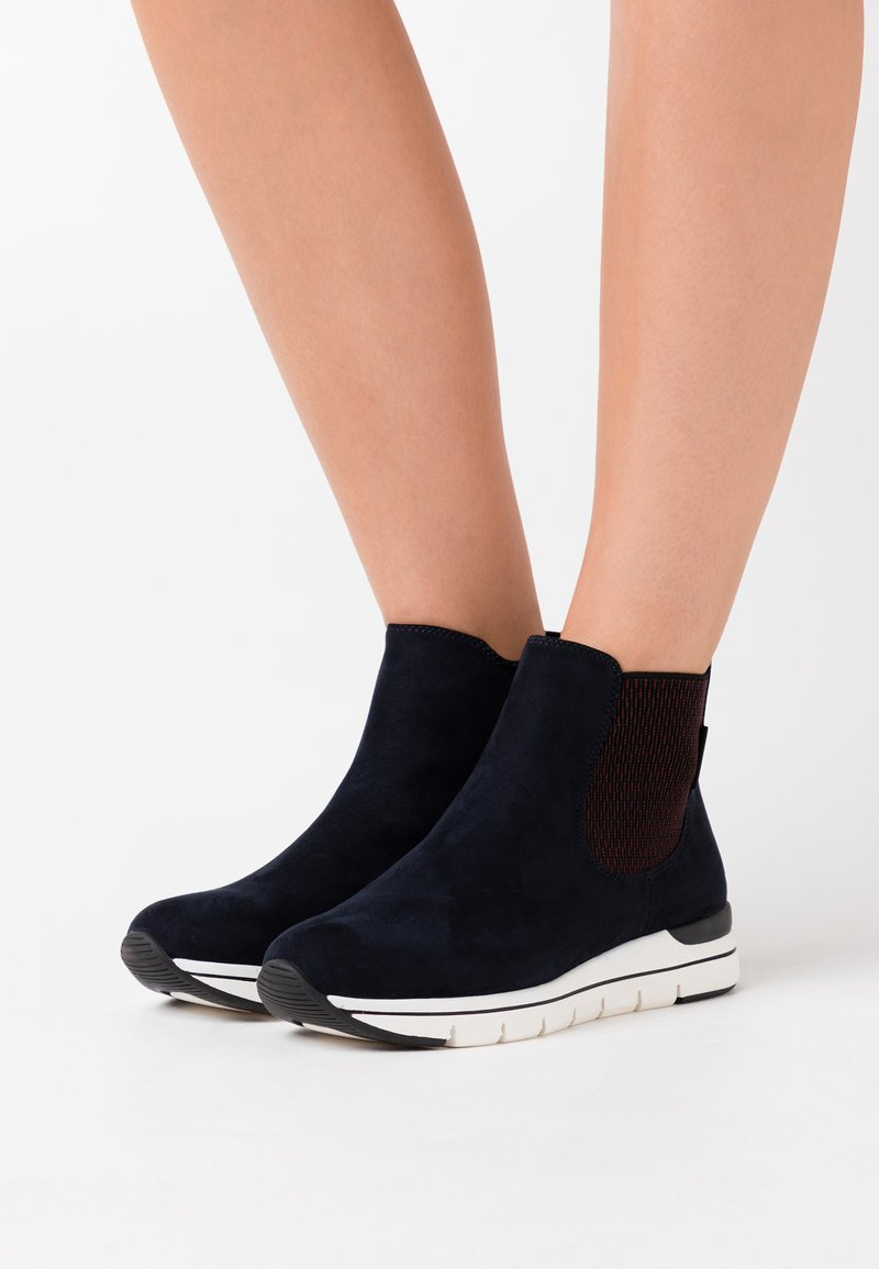 LOVE OUR PLANET by MARCO TOZZI - BOOTS - Ankle boots - navy