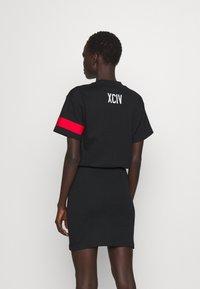 GCDS - WRAPPED DRESS - Day dress - black - 2