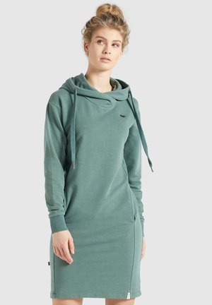 HALOUMA - Sukienka letnia - aqua gewaschen