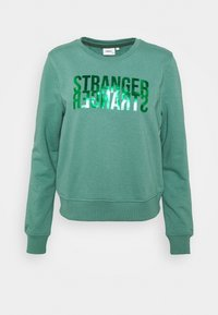 ONLY - ONLVILLA LIFE  - Sweatshirt - blue spruce/stranger - 0