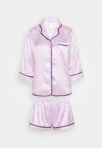 TRACY SLEEP SHIRT SHORT SLEEVED SHORTS  - Pyjamas - lilac