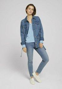 TOM TAILOR DENIM - Blouse - mid blue white stripe - 1