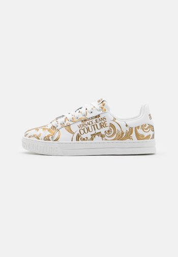COURT - Sneakers basse - bianco/gold