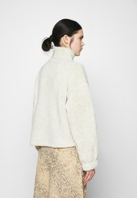 Nly by Nelly - HALF ZIP - Fleece jumper - offwhite turtledove - 2