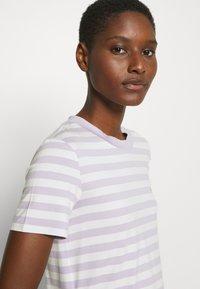 Marc O'Polo DENIM - SHORT SLEEVE STRIPE - Print T-shirt - multi/syringa lilac - 3