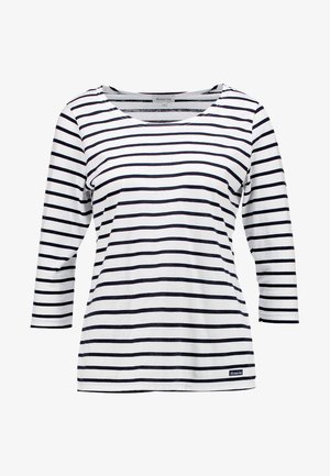 CAP COZ - Long sleeved top - blanc/rich navy