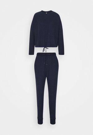 SUPER SOFT CREW PANT SET - Pyjama - navy baby marle