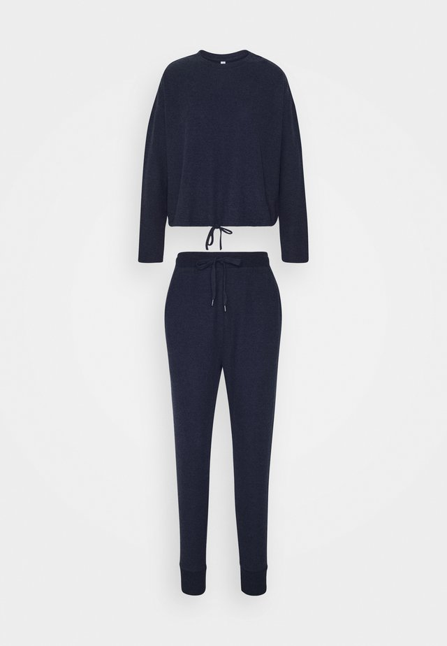 SUPER SOFT CREW PANT SET - Pyjama set - navy baby marle