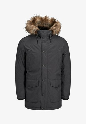 JJSKY JACKET - Winterjas - dark grey melange