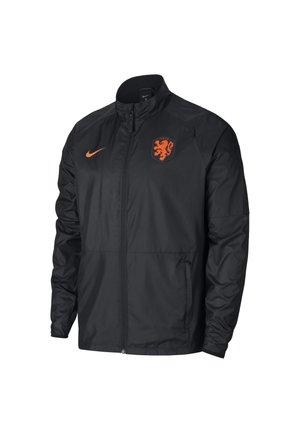 NIEDERLANDE ACADEMY HERREN-FUSSBALLJACKE - Veste de survêtement - black/black/black/safety orange