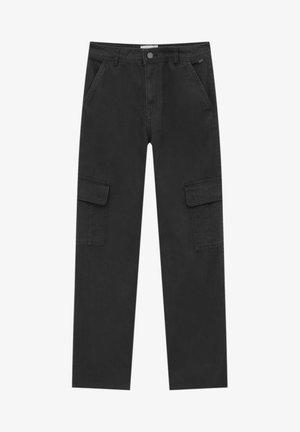 Cargo trousers - mottled black