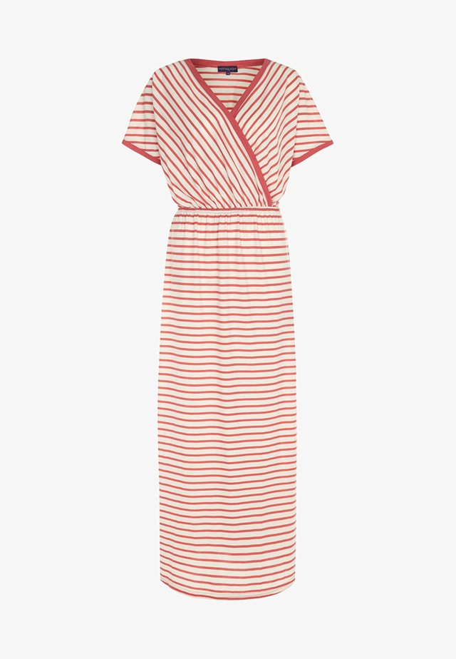 STRIPED MAXI DRESS - Maxi šaty - coral/cream stripes