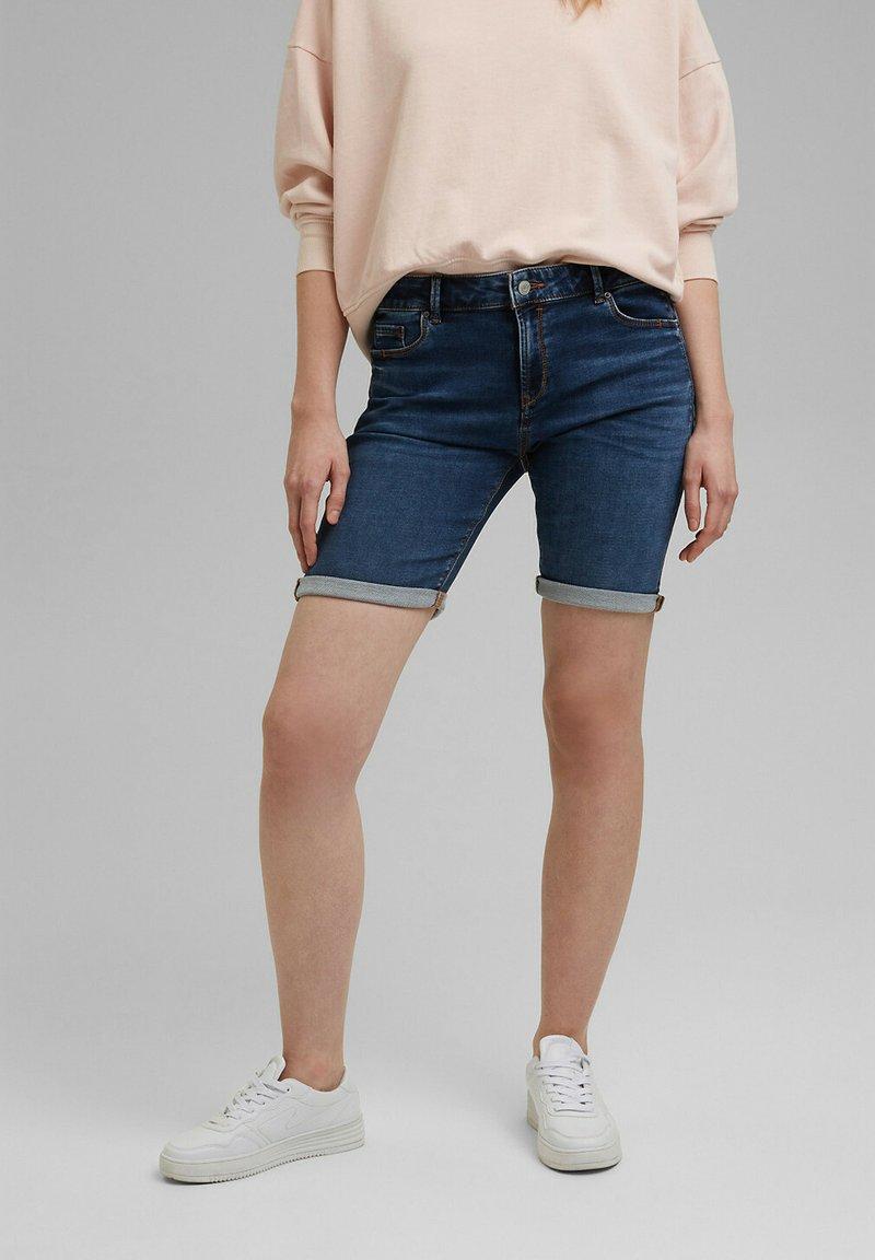 Esprit - Denim shorts - blue medium washed